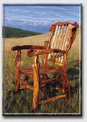 SPIRIT Of The WEST, Log Furniture   Juniper Captainu0027s Chair   Beautiful  Rustic Log Furniture